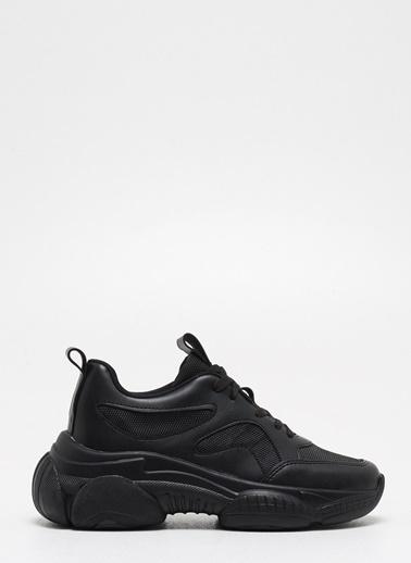 F By Fabrika Fabrika Sentetik Yüksek Nlı Bağcıklı Zebra Desenli Ve Renkli Hunter Kadın Sneaker Siyah